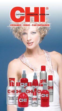 В бутике салона красоты Вы сможете приобрести косметику для ухода за волосами CHI