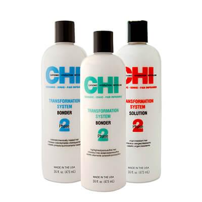 Перманентное шелковое выпрямление волос CHI
