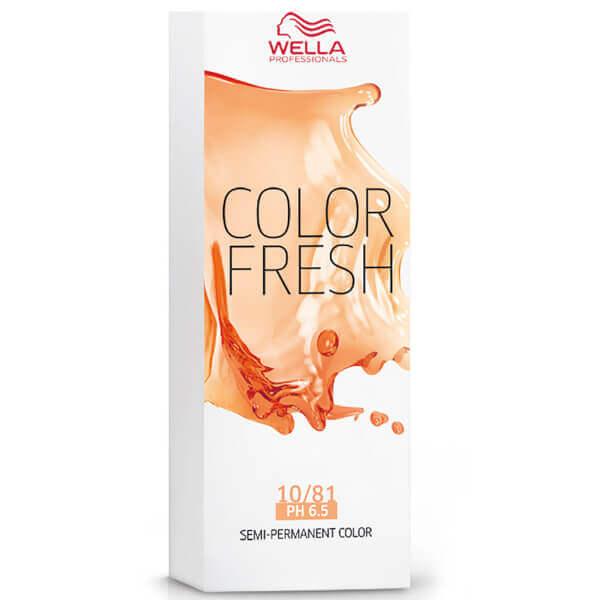 Оттеночная краска Wella Color Fresh 10/81, цвет яркий блонд жемчужно-пепельный