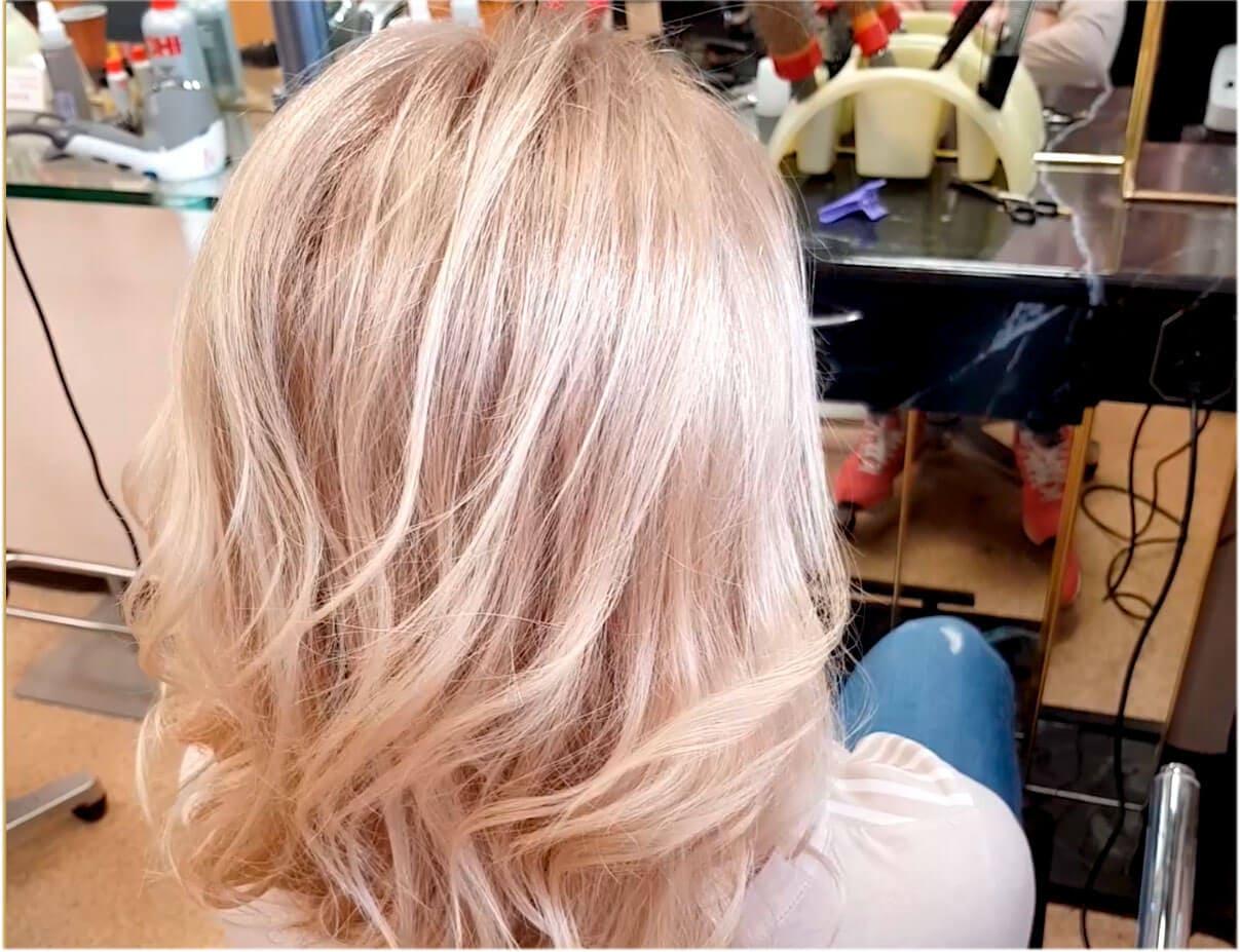 Окрашивание волос Wella Illumina платиновый блонд