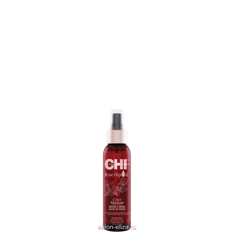 Несмываемый спрей-тоник CHI Rose Hip Repair and Shine Leave-in Tonic для восстановления и придания блеска 118 мл