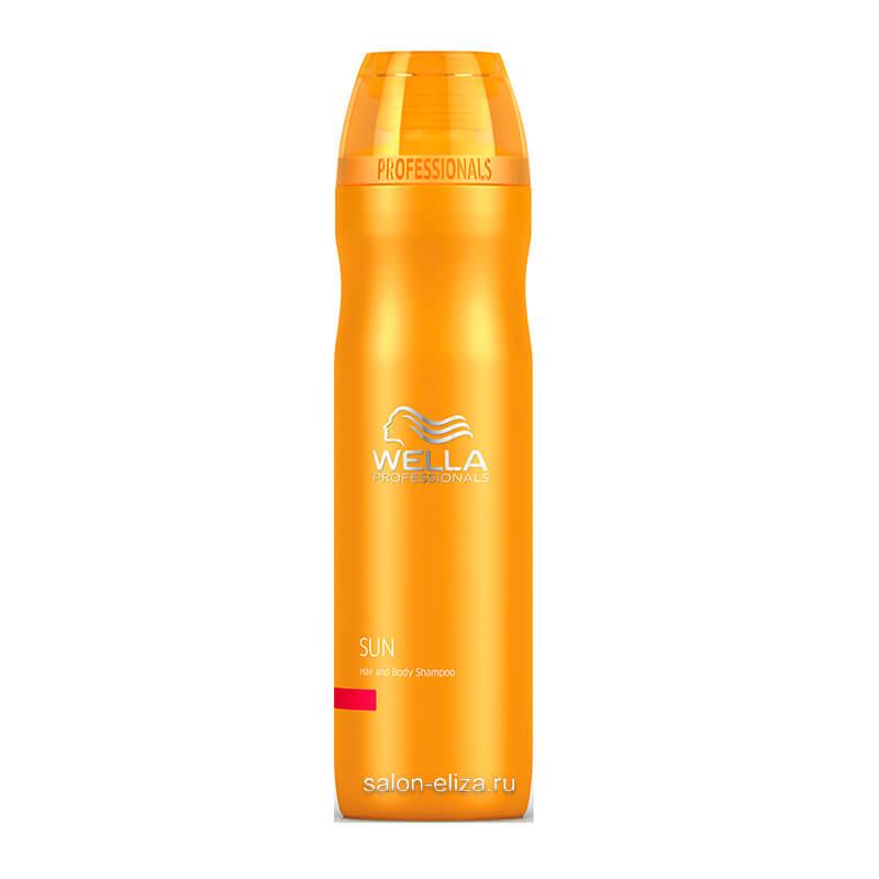 Солнцезащитный шампунь для волос и тела Wella Invigo Sun, 250 мл