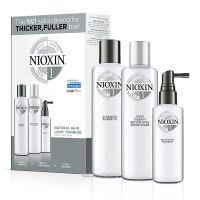 3-ступенчатая система Nioxin System 1 для натуральных, с тенденцией к истончению волос 150+150+50 мл, 300+300+100 мл