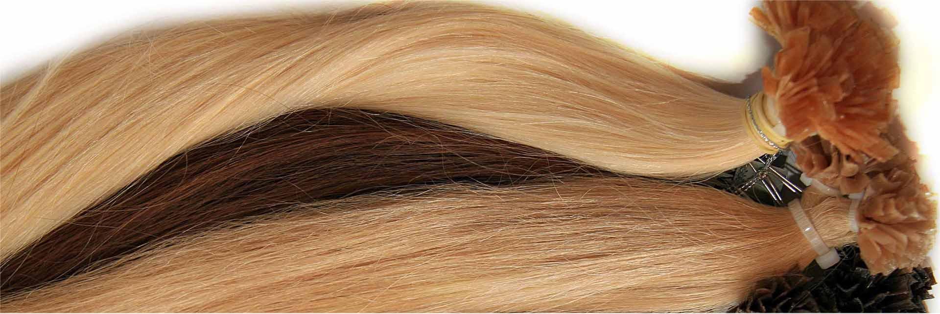 Волосы с капсулами кератина