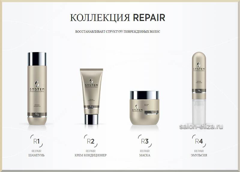 Repair. Восстанавливает структуру поврежденных волос