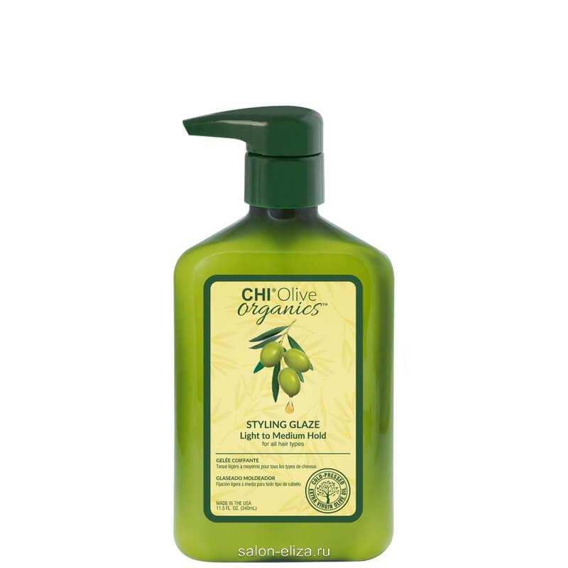 Гель стайлинг CHI Olive Organics средней фиксации 340 мл