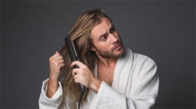Выпрямление волос для мужчин