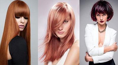 Красные волосы 2019 модные оттенки