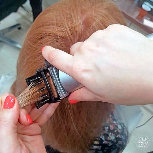 Полировка волос насадкой