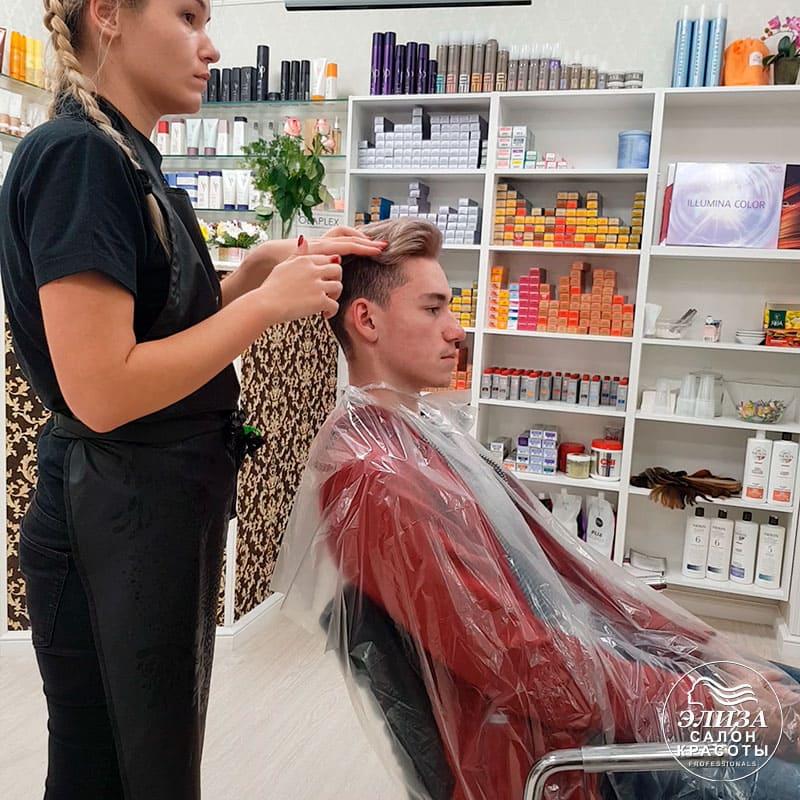 Мужское окрашивание и стрижка волос