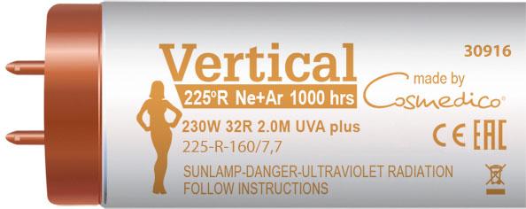 Лампы для вертикальных соляриев Vertical (Cosmedico) 230 Вт длиной 2 метра и с коэффициентом UVB 3,2 %