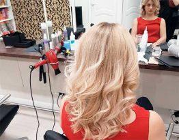 Эффект выгоревших волос на русых волосах
