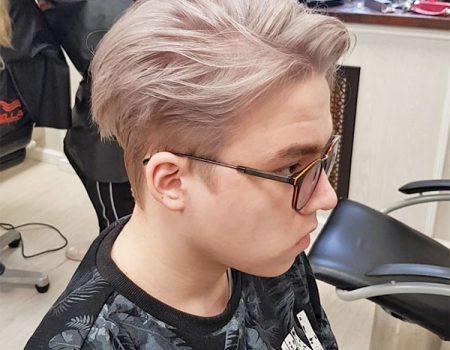 Мужское обесцвечивание волос