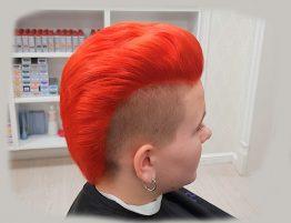 Красный цвет волос — цена окрашивания и фото
