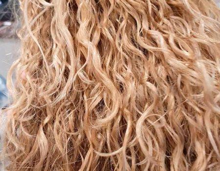 Кудрявые волосы в итоге