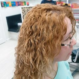 Японская завивка волос после