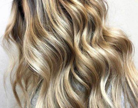 Окрашивание кудрявых волос балаяж
