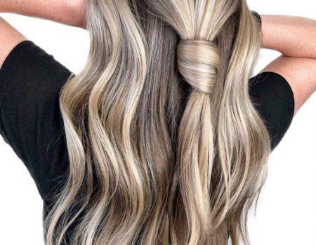 Мелирование на длинные русые волосы фото в салоне