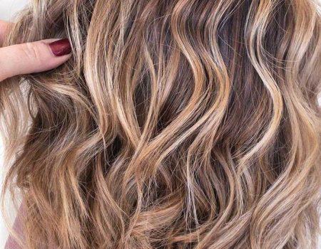 Мелирование на каштановые волосы в салоне