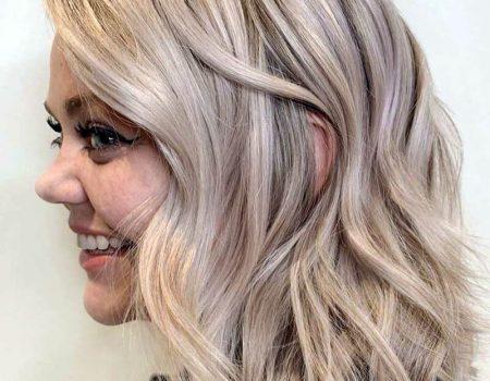 Мелирование платиновый блонд 2020