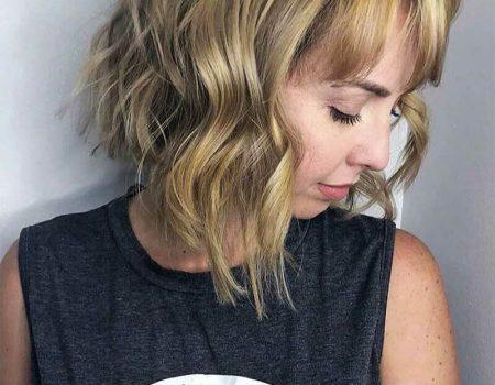 Мелированные волосы с стрижкой шэг