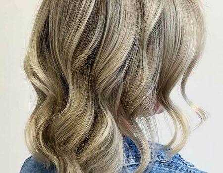 Средние волосы мелирование пепельного цвета
