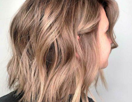 Балаяж на русые волосы удлиненное каре