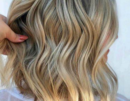 Окрашивание блонд мелирование