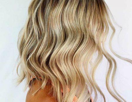 Мелирование балаяж блонд