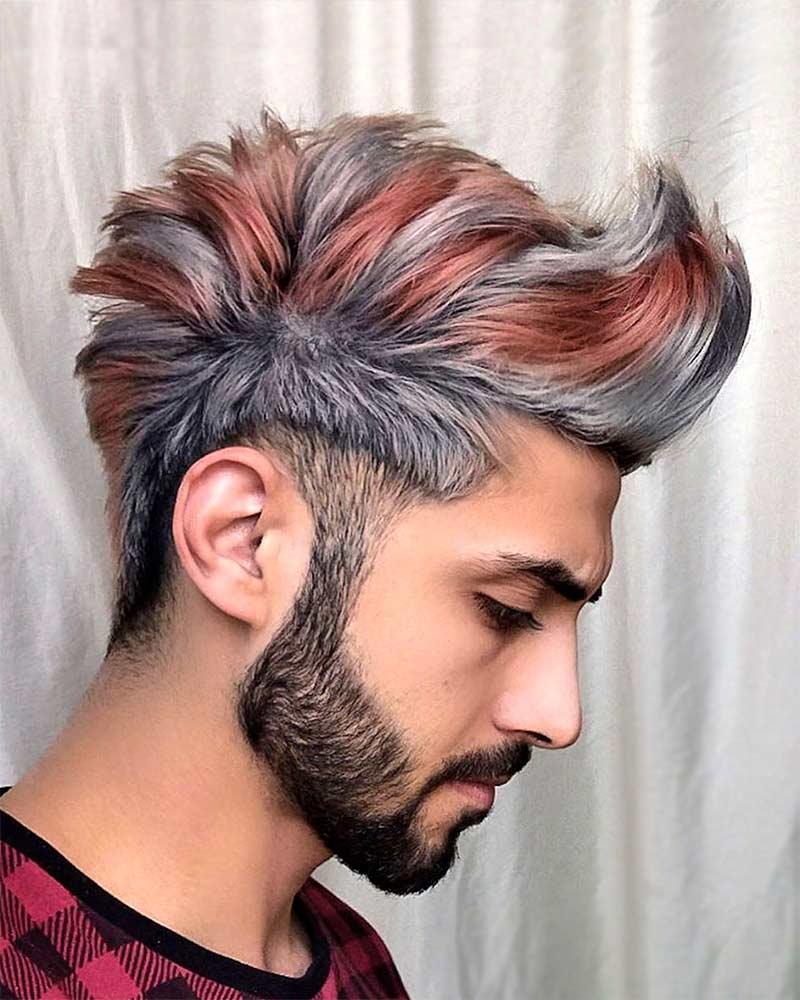 Мужское окрашивание волос и стрижка