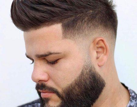 Андеркат с бородой мужская стрижка