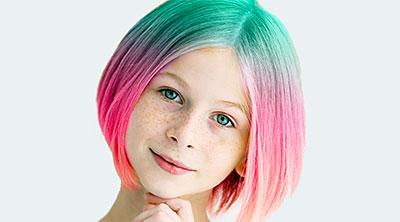 Цены на детское окрашивание волос