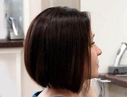 Окрашивание волос на среднюю длину с легкой сединой