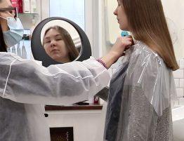 Подравнивание и укорачивание длинных волос